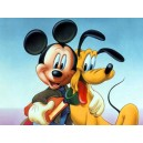 Mickey & Pluto Magnet